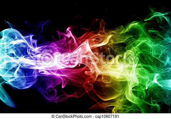bunte, rauchwolken - csp10607191