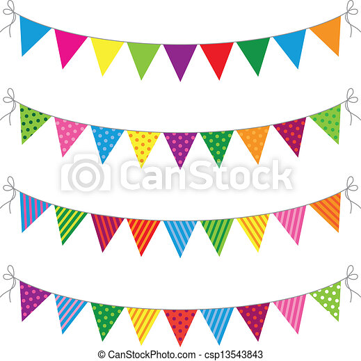 a set of four lines of bunting eps vector search clip art rh canstockphoto com bunting clipart no background bunting clipart images