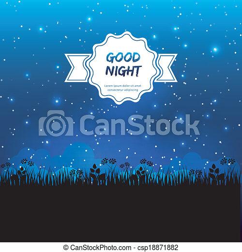 buono, disegno, notte - csp18871882