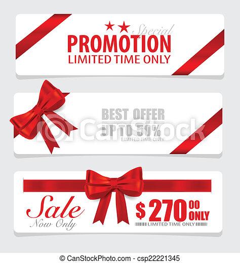 buono, fine, set, prezzo, etichette, vendita, vou, risparmi, anno, etichetta - csp22221345
