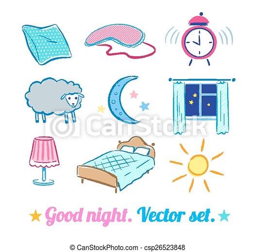 buono, notte, set. - csp26523848