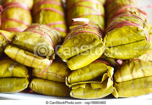 Buras is Indonesian's traditional food - csp18660460