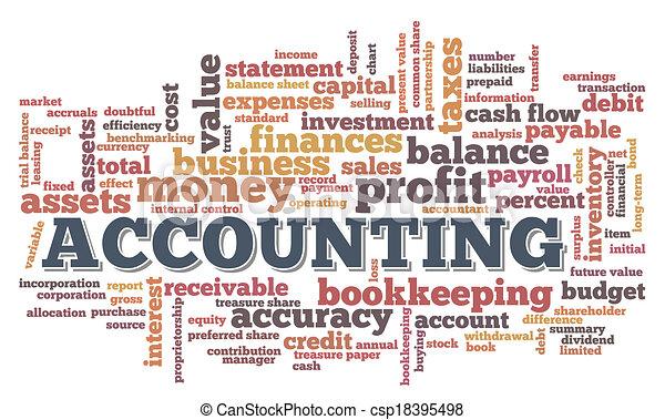 burbuja, contabilidad, palabra, nube, etiquetas - csp18395498
