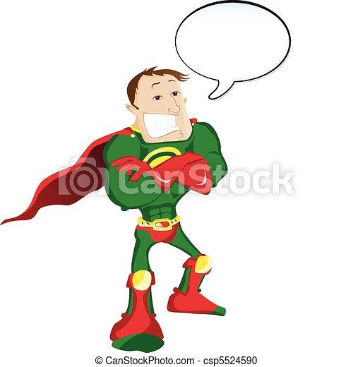 Super héroe con burbuja de habla - csp5524590