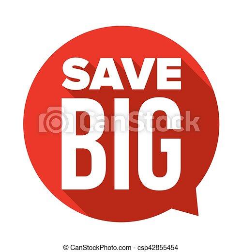 Guarda el gran discurso vector burbuja - csp42855454