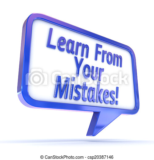 """Burbuja de habla """"Aprende de tus errores"""" - csp20387146"""
