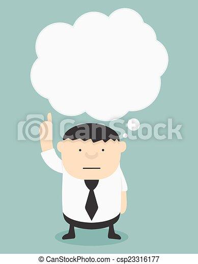 Grasa de negocios con burbujas de habla - csp23316177