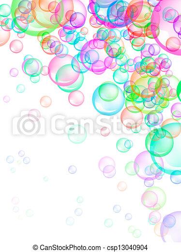 burbujas, jabón, plano de fondo - csp13040904
