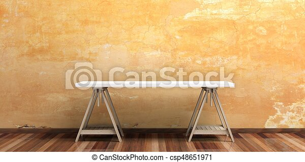 Bureau bois illustration floor bureau d bureau plancher