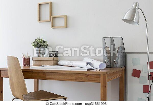 Bureau maison minimalistic bureau bois moderne minimalistic