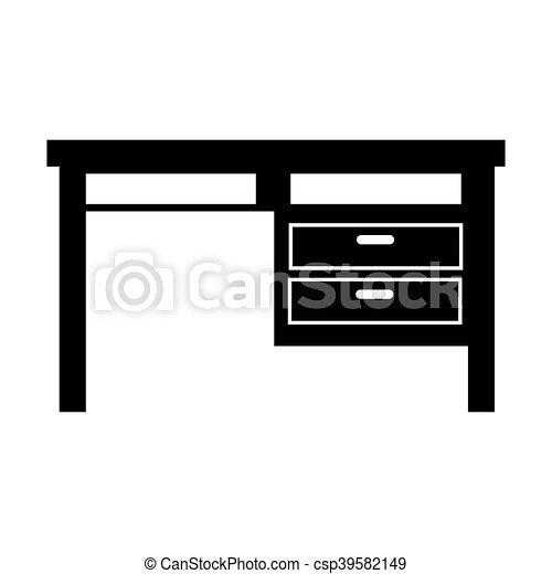 bureau, meubles bureau - csp39582149