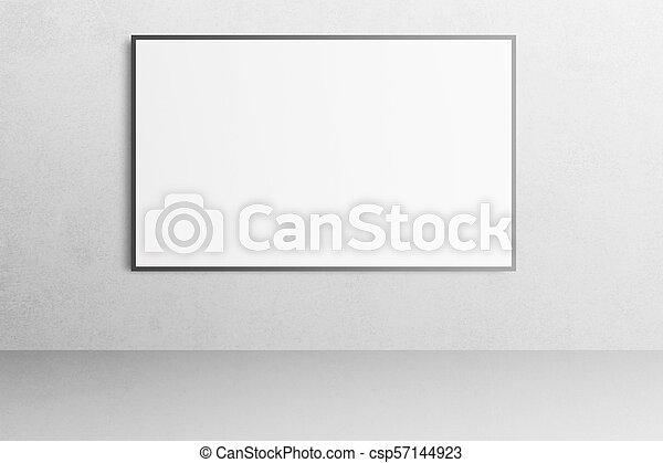 Bureau Mockup Affiche Wall Vide Interieur Blanc