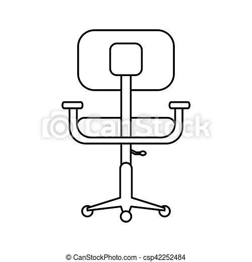 Bureau Pictogramme Confort Conception Lieu Travail Chaise