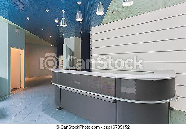 bureau, réception - csp16735152