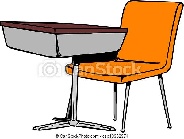 bureau scolaire - csp13352371