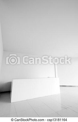 bureau, secteur réception - csp13181164