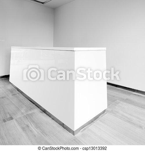 bureau, secteur réception - csp13013392