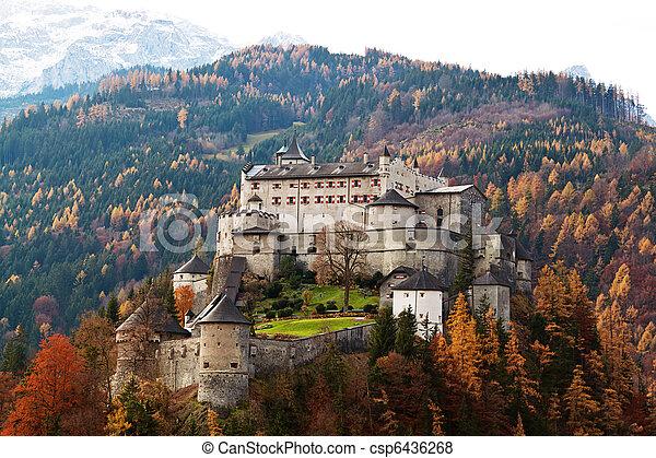 Burg Hohen Werfen, Salzburg, Austria - csp6436268