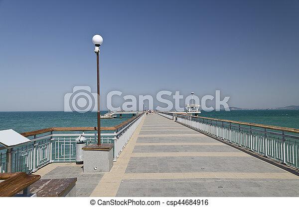Burgas beach in Bulgaria on the black sea - csp44684916
