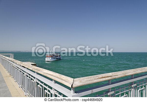 Burgas beach in Bulgaria on the black sea - csp44684920