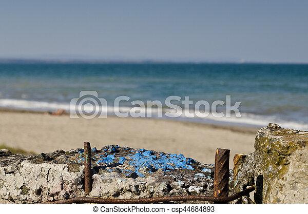 Burgas beach in Bulgaria on the black sea - csp44684893