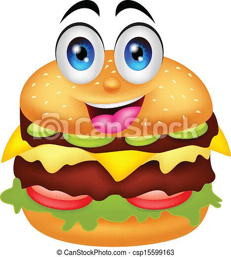 vector illustration of burger cartoon characters clip art vector rh canstockphoto com burger clipart png burger clipart vector