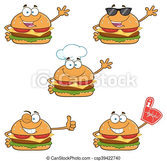 Burger Character Collection - 1 - csp39422740