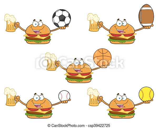 Burger Character Collection - 2 - csp39422725