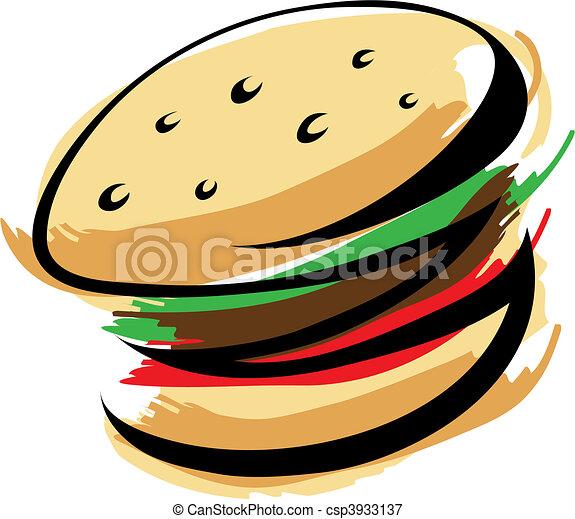 Eating Burger Vector Clipart Illustrations 14332 Eating Burger