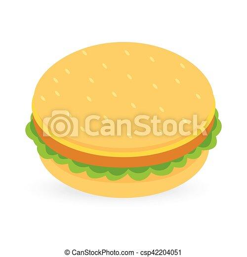 burger isolated on white background - csp42204051