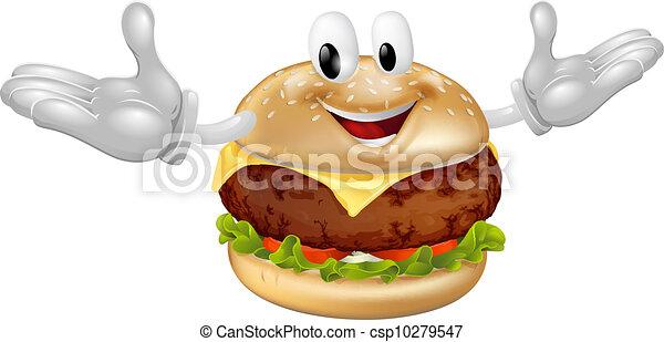 Burger Mascot Man - csp10279547