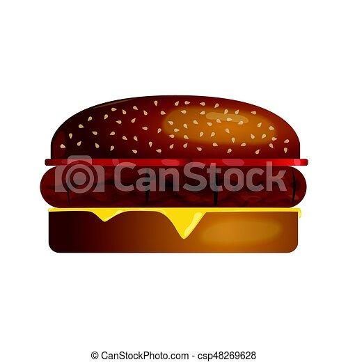 Burger Vector Illustration - csp48269628