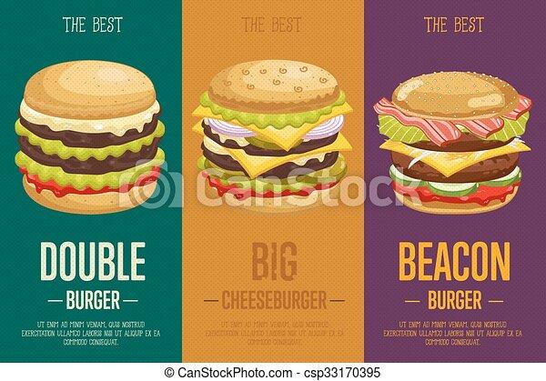 Burgers Menu Template Classic Burger And Cheeseburger