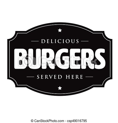 Burgers vintage sign retro - csp49016795