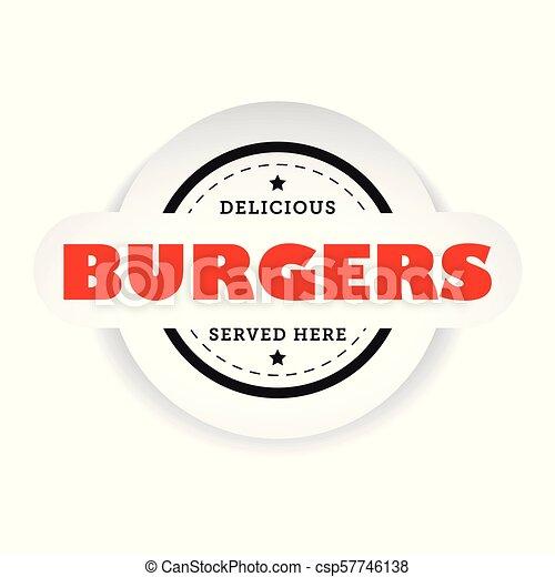 Burgers vintage stamp sign - csp57746138