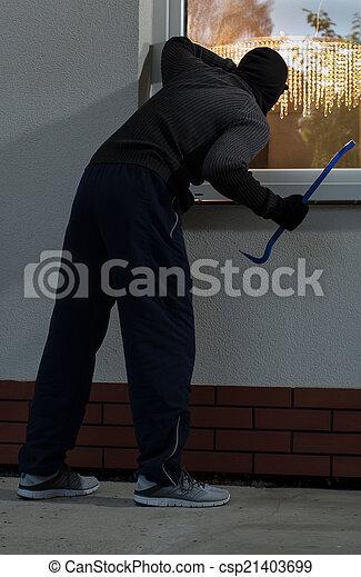 Burglar before burglary - csp21403699