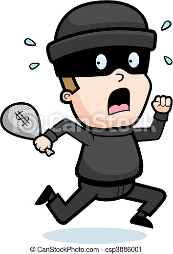 burglar running a cartoon kid burglar running in fear rh canstockphoto com sg burglar mask clipart cat burglar clipart