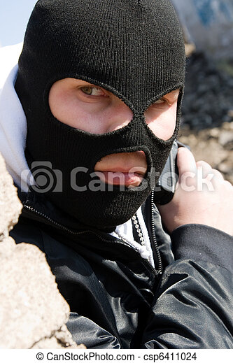 Burglar waiting for his victim - csp6411024