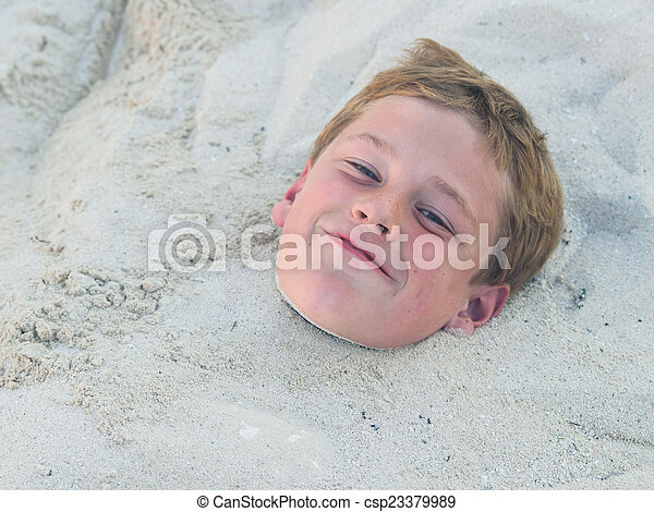 Buried in the sand - csp23379989