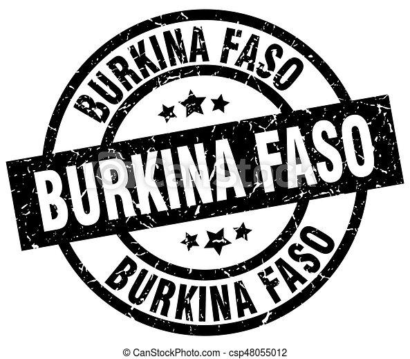 Burkina Faso black round grunge stamp - csp48055012