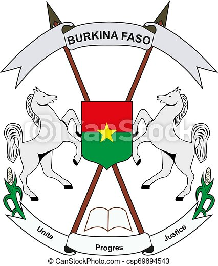 Burkina Faso National Emblem vector - csp69894543