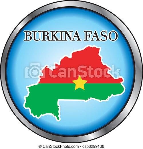 Burkina Faso Round Button - csp8299138