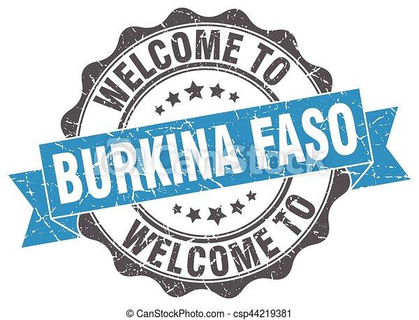 Burkina Faso round ribbon seal - csp44219381
