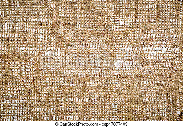 burlap art canvas background - csp47077403