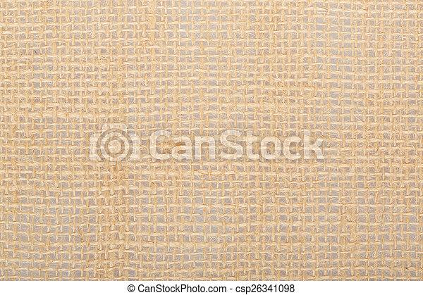 Burlap, brown canvas background - csp26341098