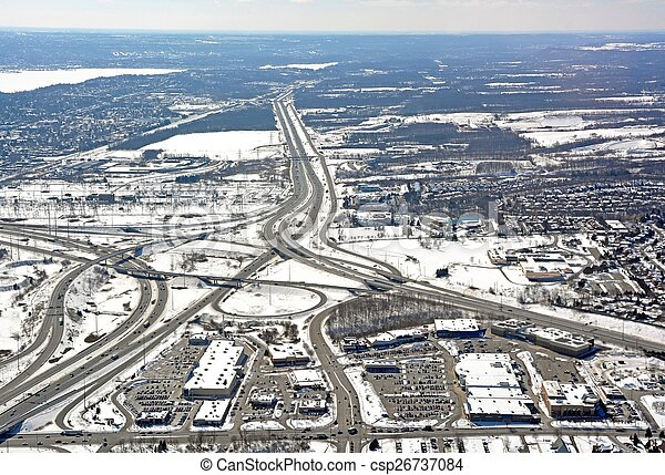 Burlington, Ontario Winter aerial - csp26737084