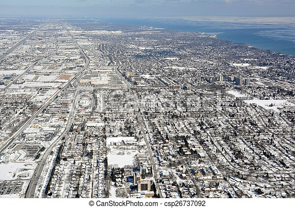 Burlington Ontario Winter aerial - csp26737092