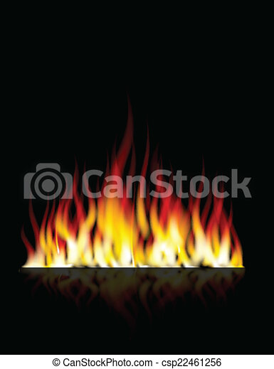 Burn flame fire for you design - csp22461256