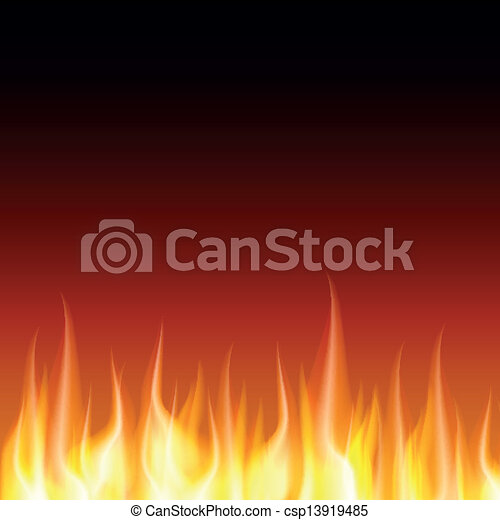 Burn flame fire vector background - csp13919485