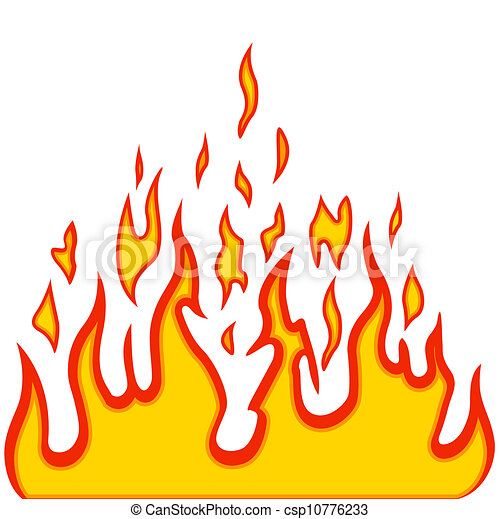 Burn flame fire vector background - csp10776233